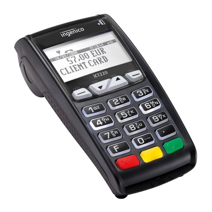 POS terminals for stationary use with NFC module